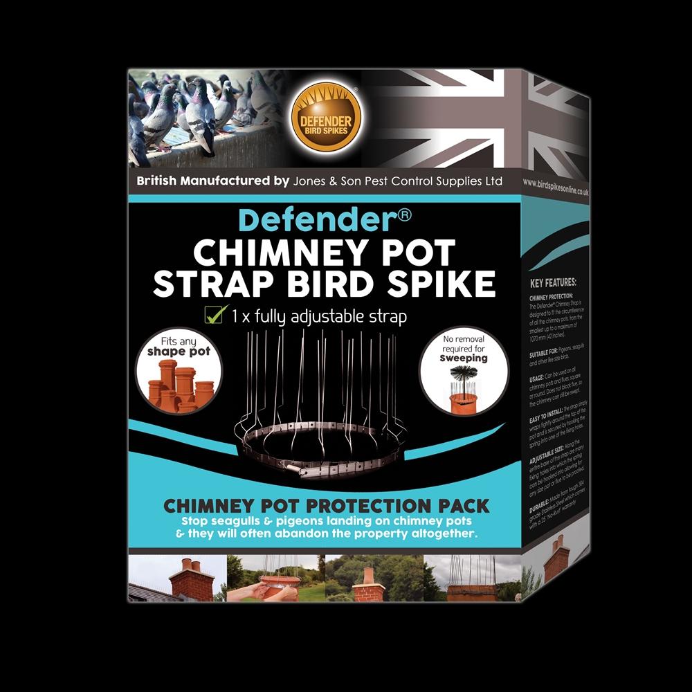 Defender 174 Chimney Pot Strap Bird Spike Pack