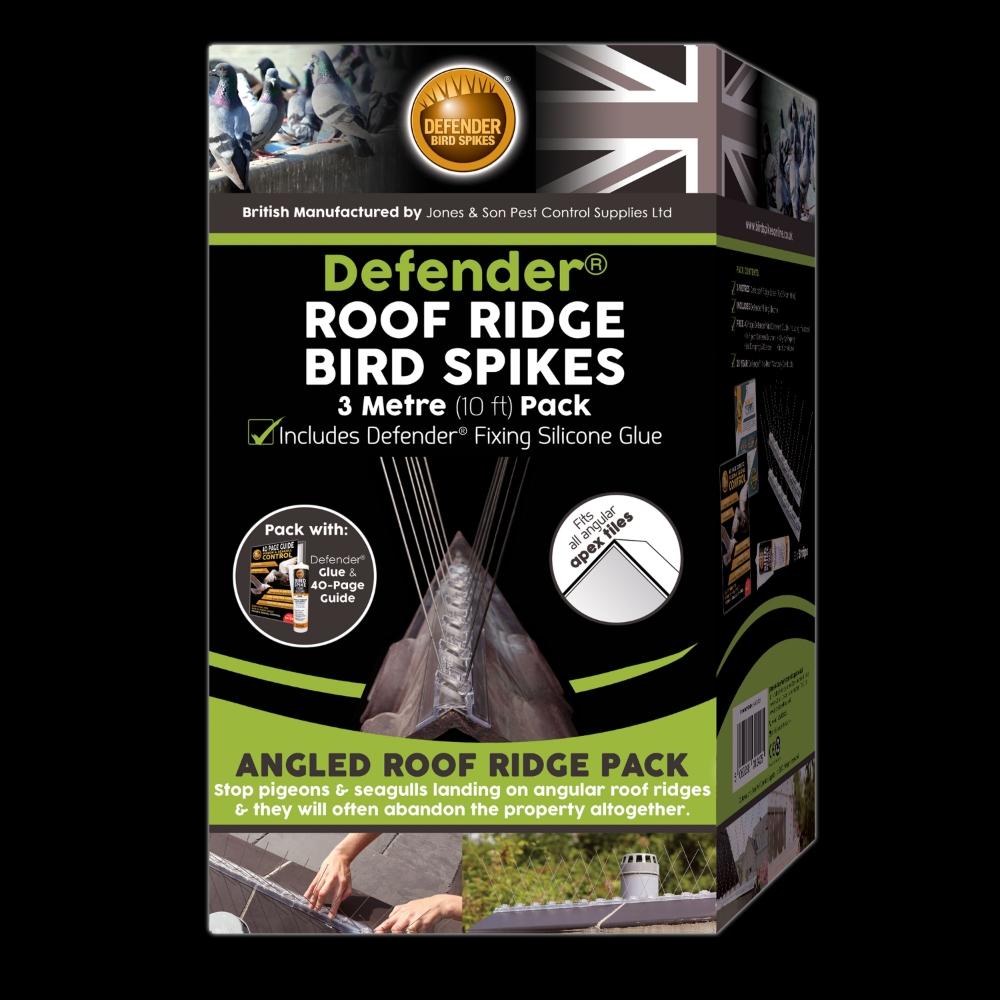 Defender 174 Roof Ridge Bird Spikes 3 Metre 10 Ft Pack